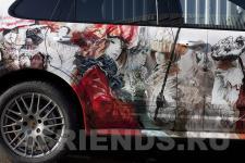 Аэрография Porsche Cayenne Карнавал - рисунок 4