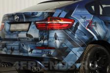 аэрография BMW X6 Серфинг - аэрография №1