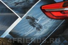 аэрография BMW X6 Серфинг - аэрография №6