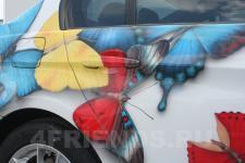 аэрография BMW 325 бабочки - аэрография №4