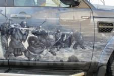фотография №6 аэрография Range Rover Викинги
