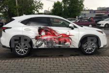 """аэрография Lexus NX """"Самурай Аниме"""" - фотография 7"""