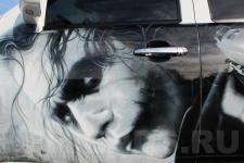 аэрография Chevrolet Tahoe Джокер - рисунок 5
