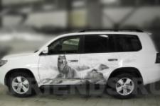 аэрография Toyota LC 200 Волки - фотография4