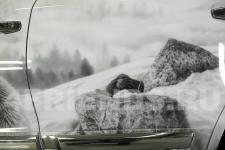 аэрография Toyota LC 200 Волки - фотография5