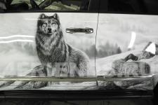 аэрография Toyota LC 200 Волки - фотография1