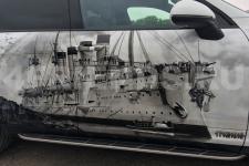 Porsche Cayenne Крейсера - аэрография фото 19