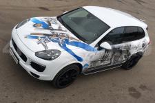 Porsche Cayenne Крейсера - аэрография фото 13