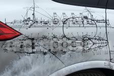 Porsche Cayenne Крейсера - аэрография фото 21