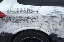Porsche Cayenne Крейсера - аэрография фото 23
