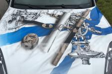 Porsche Cayenne Крейсера - аэрография фото 15