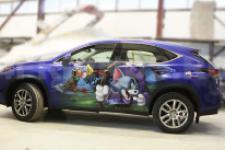 """Lexus NX """"Ну погоди""""- аэрография фото 4"""
