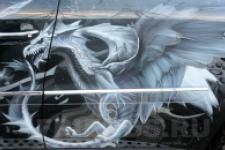 аэрография Mercedes GL450 драконы - аэрография №3