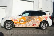 аэрография BMW X3 Дракон - аэрография №4