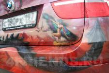 Аэрография BMW X6 Дракон - фотография №8
