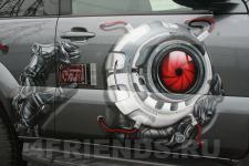 аэрография Toyota LC Prado Робот - аэрография №1