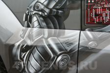 аэрография Toyota LC Prado Робот - аэрография №3