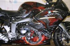 аэрография BMW мотоцикл Дракон   - фотография 2