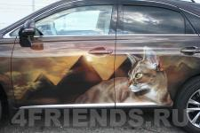 Аэрография Lexus RX350 Котята - рисунок 5